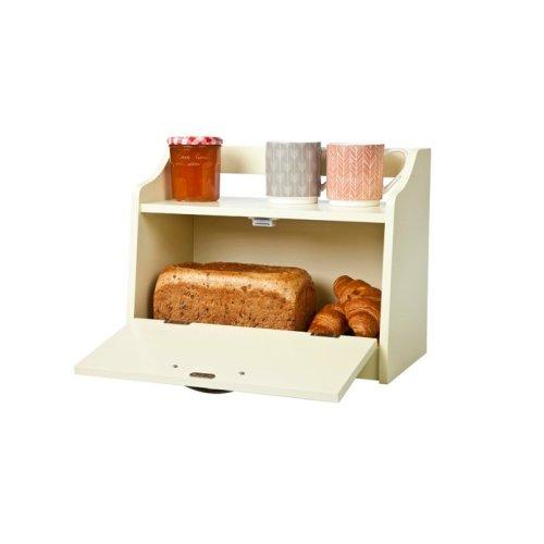 Minack Buttermilk Wooden Bread Bin