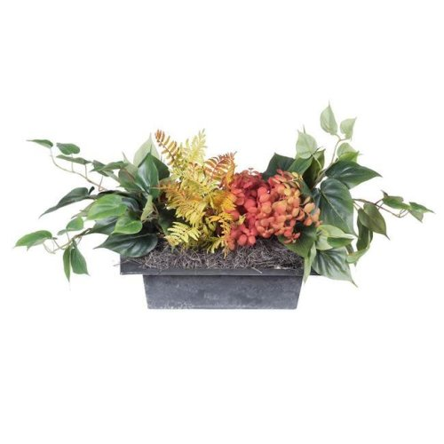 12 in. Mixed Greenery in Plastic Rectangle