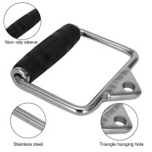 Kabalo Single Stirrup Cable Attachment Handle Seated Row Multi Gym Pull Down Bar Grip