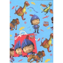 Mike the Knight gift wrap