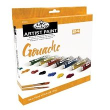 Royal & Langnickel RGOU24 24-Color Gouache Paint Set