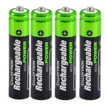 Lloytron AAA 550 mAh NIMH AccuDigital Battery Pack of 4 (Model No. B014)