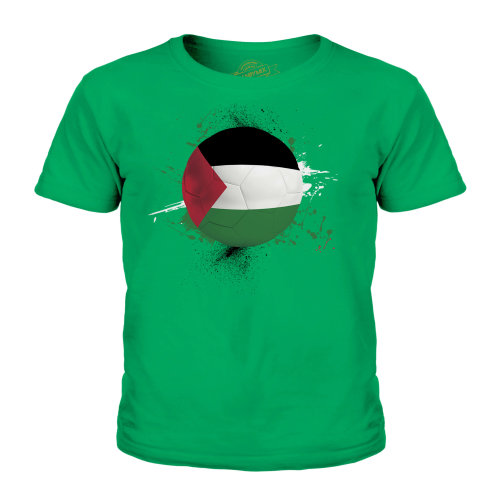 (Irish Green, 7-8 Years) Candymix - Palestine Football - Unisex Kid's T-Shirt