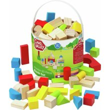 Chad Valley PlaySmart Wooden Block Makes the pieces Easy 80 Pieces Set