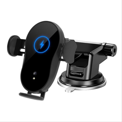 Qi Fast Wireless Charger Car Phone Mount Holder Bracket 15W Universal