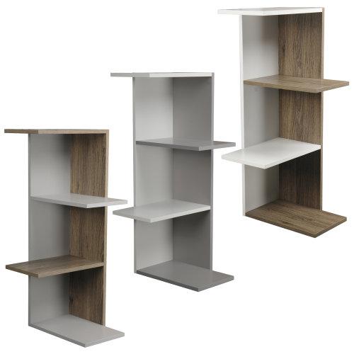 3 or 5 Tier Wooden Modern Display Corner Bookcase
