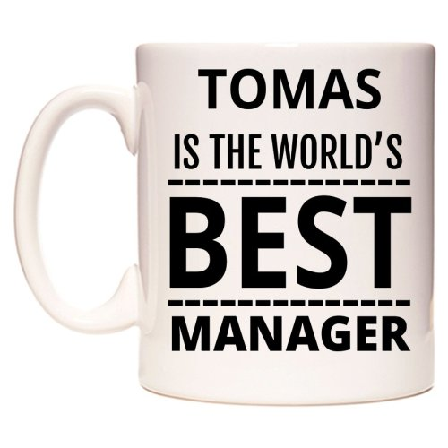TOMAS Is The World's BEST Manager Mug