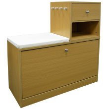 BUDDY - Telephone / Hall Table with Shoe Storage Bench - Oak