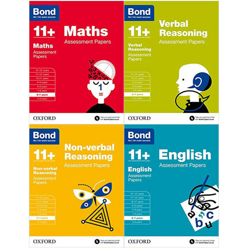 Bond 11+ Assessment Papers 6-7 Yrs 4 Books Collection Set