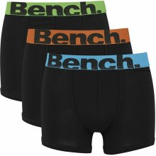Bench Action 3 Pack Trunk Boxer Shorts Black