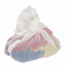 White Net Laundry Bag | Drawstring Mesh Washing Bag