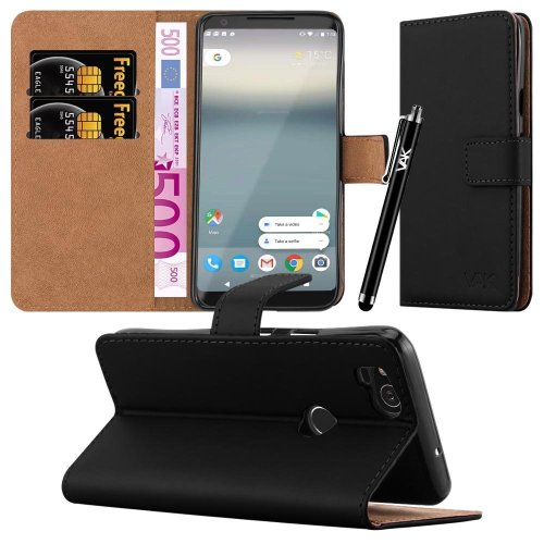 For Google Pixel 2 Premium Leather Wallet Case