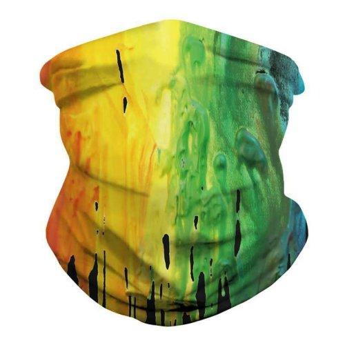 (Painting Oil) Multi use Biker Balaclava Cycling Ski Neck Tube Scarf Snood Face Mask Bandana