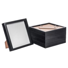 Box Picture Frame Deep 3D Photo Display 8x8 Inch Standing Hanging Black x5