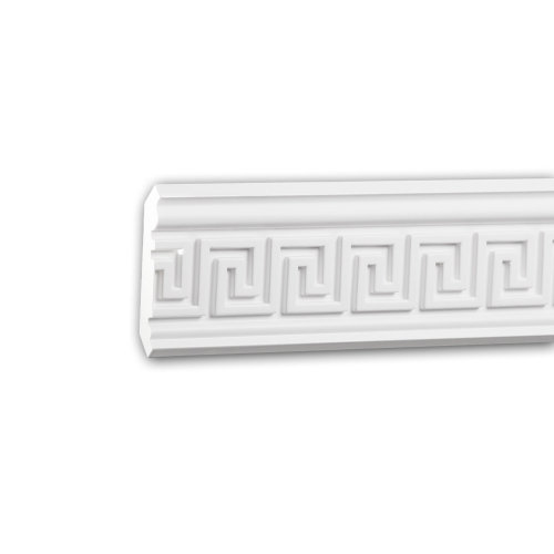 Profhome 150207 Cornice Moulding Decorative Crown Moulding Coving Cornice 2 m