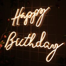 Happy birthday LED neon signs lights Party decor