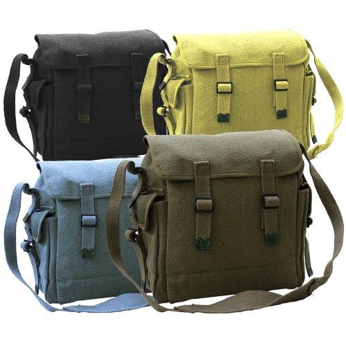 New Vintage Canvas Shoulder Haversack Bag Pockets