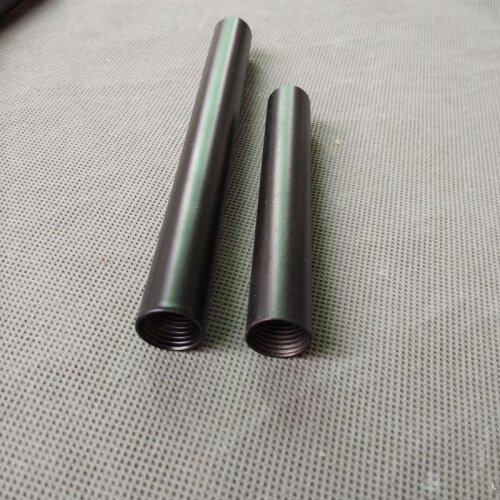 Female Thread+painted Black Metal Hollow Tube With M14 Inner Thread For Floor Lamp