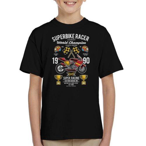 (Small (5-6 yrs)) Superbike Racer World Championship Kid's T-Shirt