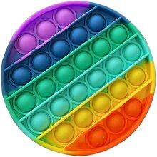 Round Pop It Finger Push Pop Pop Bubble Sensory Fidget Toy Autism Kids