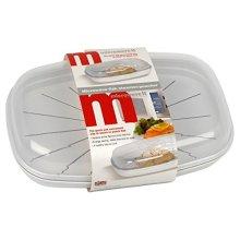 Microwave it Polyproperlene Fish Steamer/Poacher, Set of 1, White