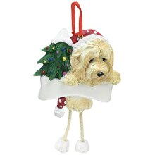 goldendoodle Ornament with Unique Dangling Legs Hand Painted and Easily Personalized christmas Ornament