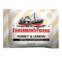 HONEY & LEMON MENTHOL FLAVOUR SUGAR FREE Fisherman's Friend Lozenges 24 x 25g Packs. by Fisherman's Friend