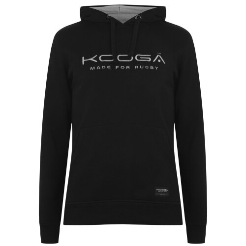 KooGa Mens Over the Head Hoody Long Sleeve Pouch Pocket Ribbed Trims Casual Top