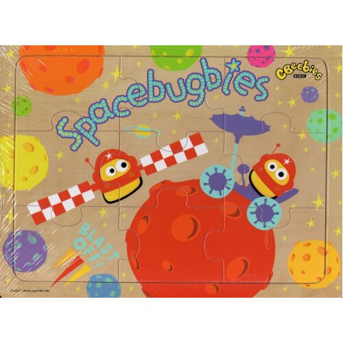 CBeebies Wooden 9 Piece Jigsaw Puzzle - Spacebugbies