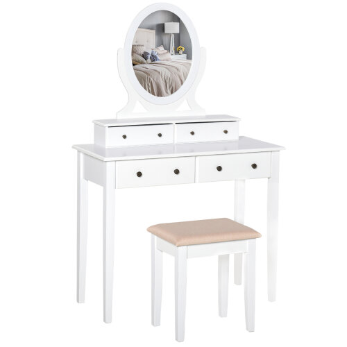 Dressing Tables Makeup, Redstone Dressing Table With Stool And Mirror White