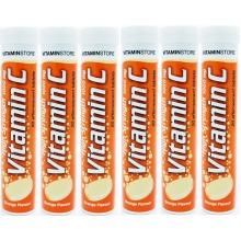 120 Vitamin C 1000mg Effervescent Tablets 6 Packs of 20 HIGH Strength
