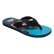Quiksilver Molokai Layback Flip Flops - Black / Blue / Black - UK 11