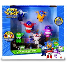 Super Wings Transform-a-Bots World Airport Series 3 | Crew Collector Pack | 10 Toy 2' Figures, Multicolored