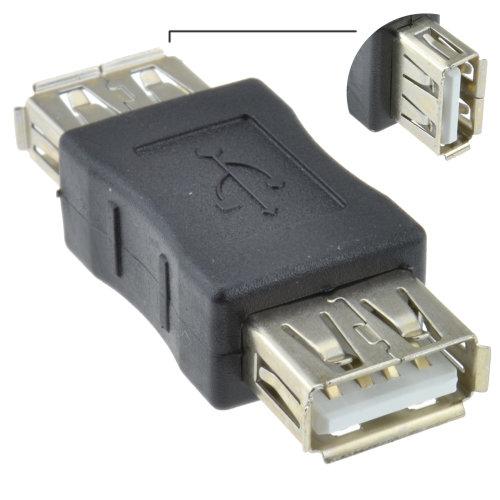 kenable USB 2.0 A Socket Female To Female Adapter Joiner Coupler