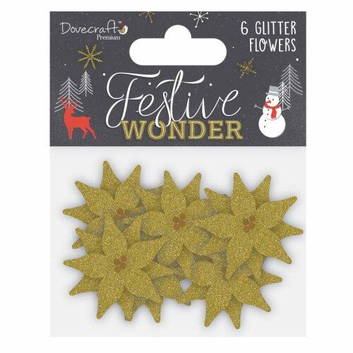 Dovecraft Festive Wonder Glitter Flowers