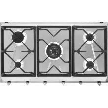 Smeg Cucina SRV596GH5 88cm Gas Hob - Stainless Steel