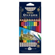 Helix Oxford Erasable Colouring Pencils Pack of 12