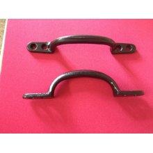 Front Fix Black Japanned Door Handle 150mm
