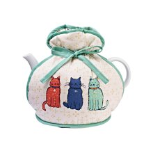 Ulster Weavers Muff Tea Cosy - Catwalk (100% Cotton Outer; 100% Polyester wadding; CE marked, Blue, 6 Cup Teapot)