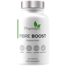 Fibre Boost Psyllium Husk Capsules - Highest Strength 1000mg for Effective Cleanliness - 100% Pure Plantago Ovata Plant Seeds - Fibre Boost Health &
