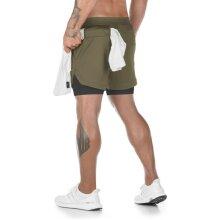 Summer Running Shorts, 2 In 1 Sports Jogging Fitness Shorts
