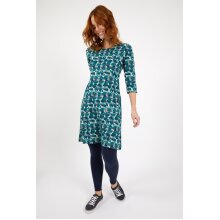 Weird Fish Starshine Organic Cotton Printed Jersey Dress Ensign Blue