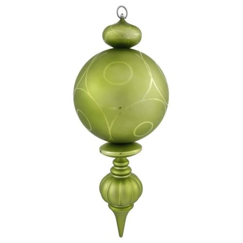 Vickerman N146713UV Lime UV Matte Gloss Ball Finial Ornament, 21 in.