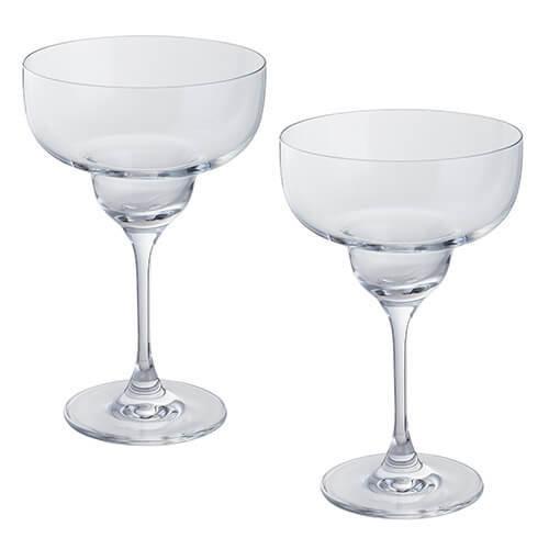 Dartington 2-Piece Crystal Wine and Bar Margarita Glass, 1 Pair