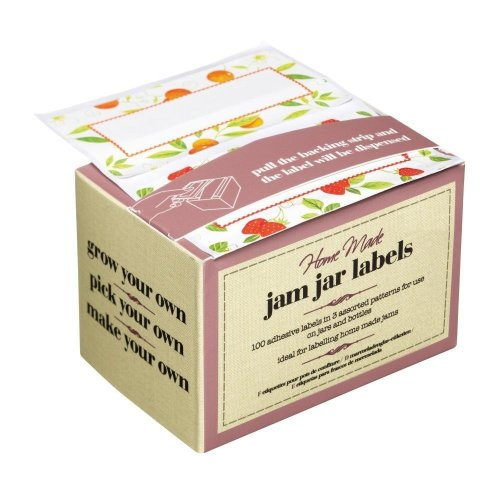 100 Self-adhesive Preserve Jar Labels - Jam Kitchen Craft Selfadhesive Home -  labels jar 100 jam kitchen craft preserve selfadhesive home made