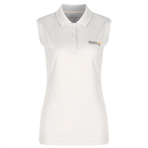 (16, White) Regatta Great Outdoors Womens/Ladies Tima Sleeveless Polo Vest