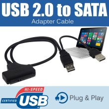 USB 3.0 To SATA 22 Pin 2.5 Hard Disk Drive SSD Adapter Connector Cable