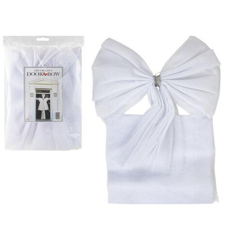 (WHITE) ASAB Christmas Door Bow Decoration Ribbon Wrap