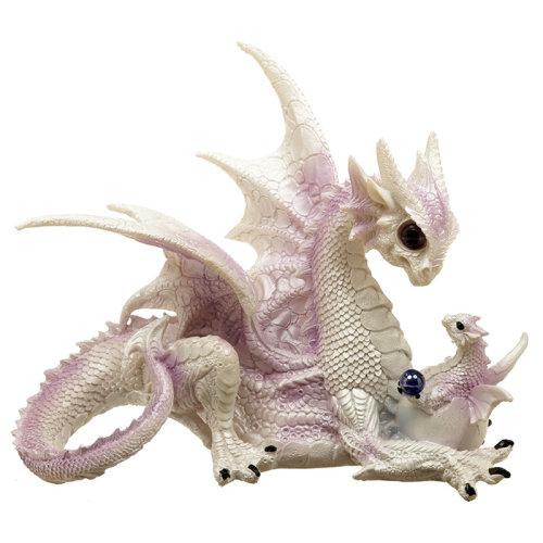 Mothers Bond Fantasy Winter Warrior Dragon Figurine