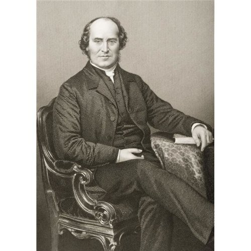 William Weldon Champneys 1807-1875. Dean of Lichfield. Engraved by D. J. Pound Poster Print, 12 x 17